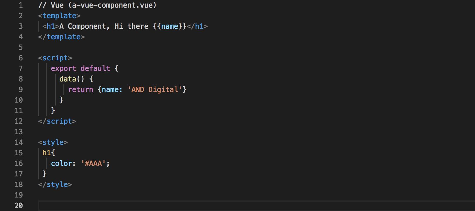 Vue code snippet