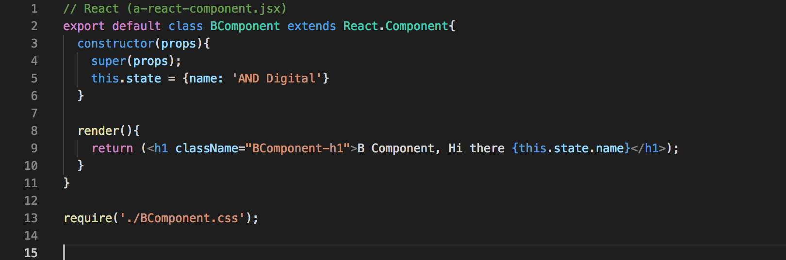 React snippet